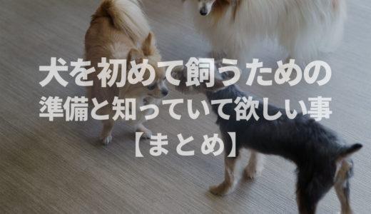 【犬のしつけ専門家 監修】犬を初めて飼うための準備と知っていて欲しい事【まとめ】